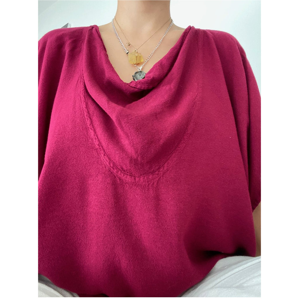 Classic Cowl Neck Tee - Sage Moon