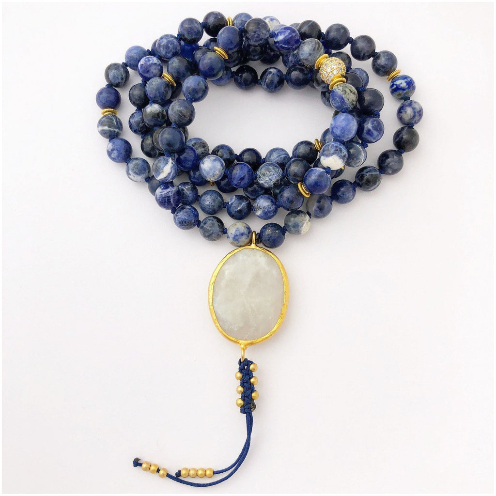 I honor my voice Throat Chakra Mala Malas- Sage Moon