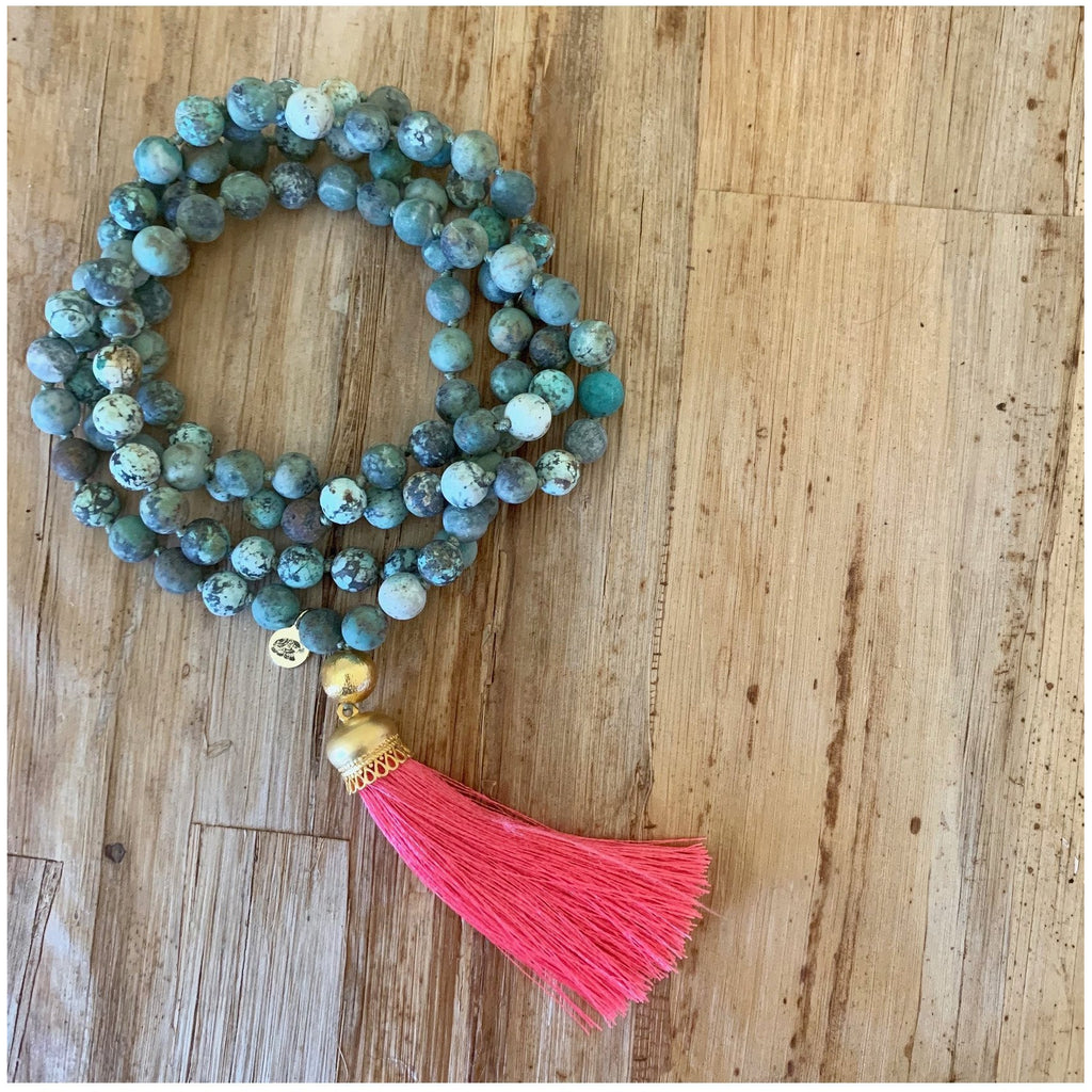 Possibilities Turquoise Mala - Sage Moon