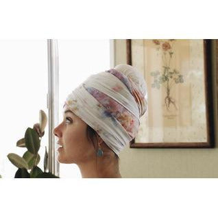 Ice dyed Turban/Scarf (rayon) Headcovers- Sage Moon