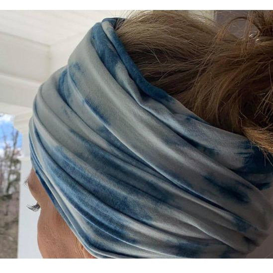 Hand Dyed Bamboo + Soy Turban - Sage Moon