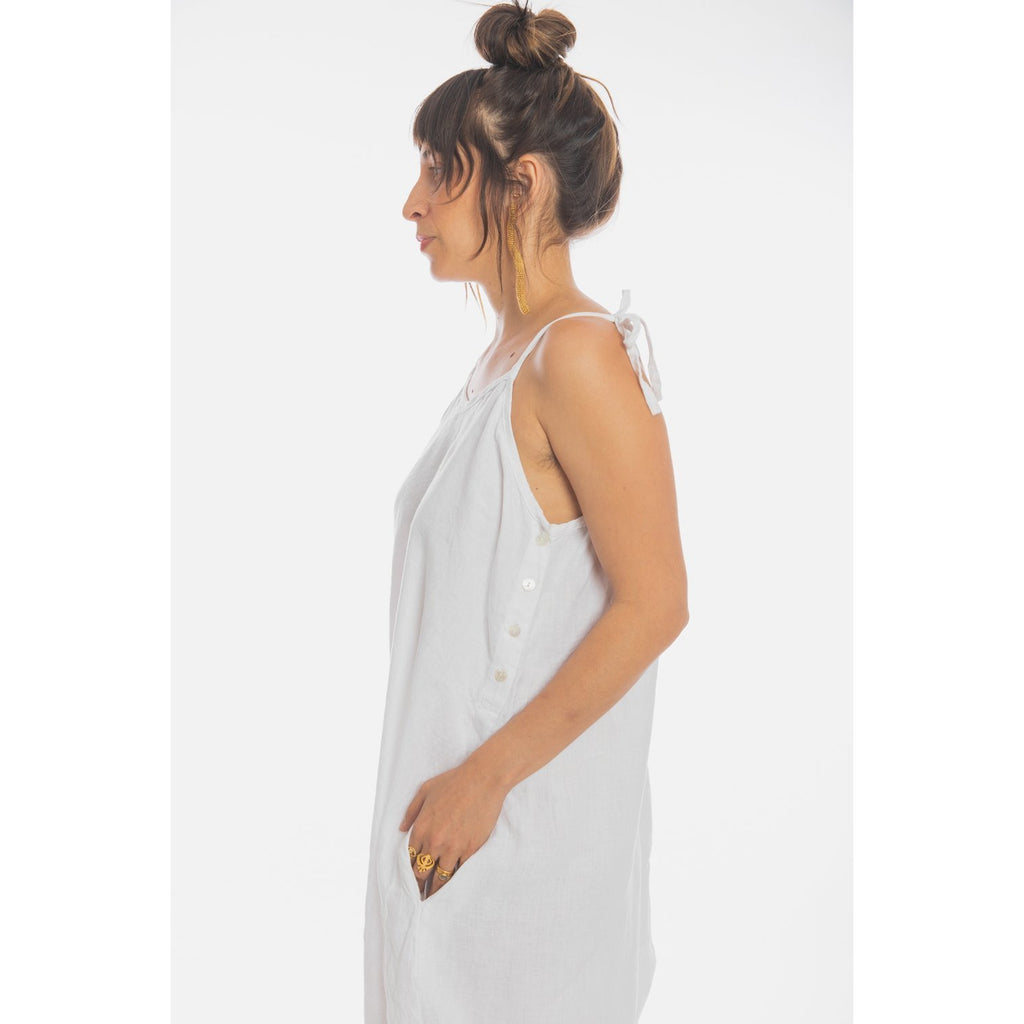 Japa Linen Playsuit - Sage Moon