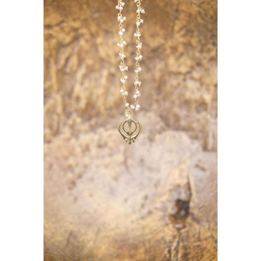 Adi Shakti Pearl Necklace - Sage Moon