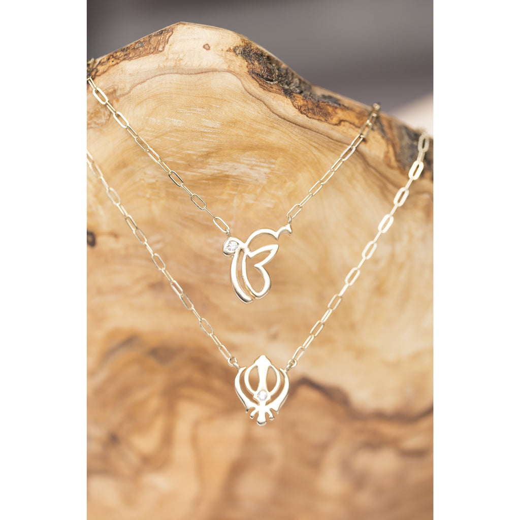 Ek Ong Kar and Adi Shakti Necklace - Sage Moon