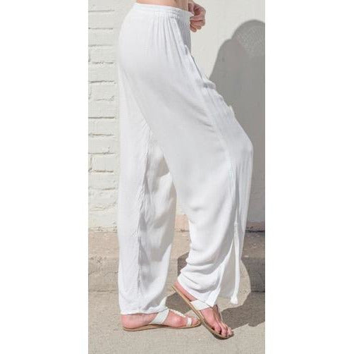 White Olivia Pant. Side View