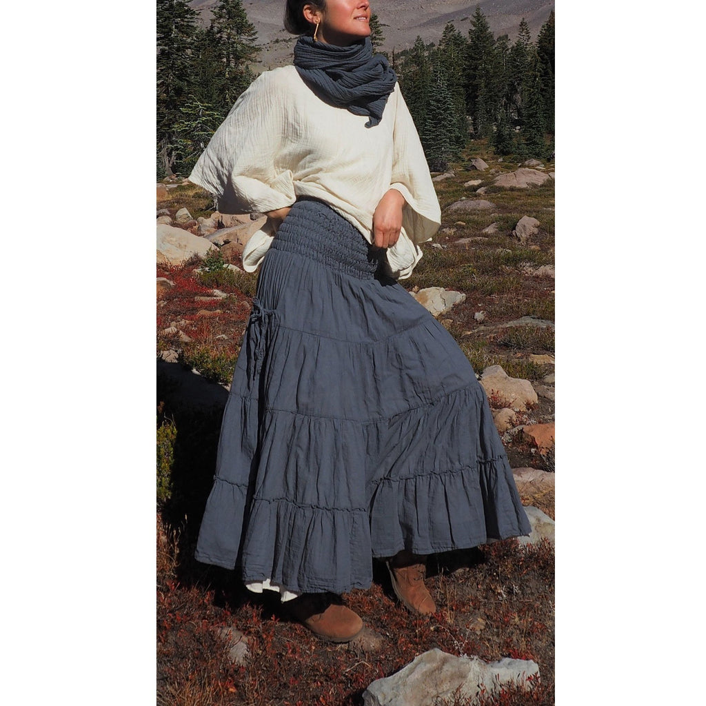 Tiered Maxi Skirt with pockets (available in 13 Colors)