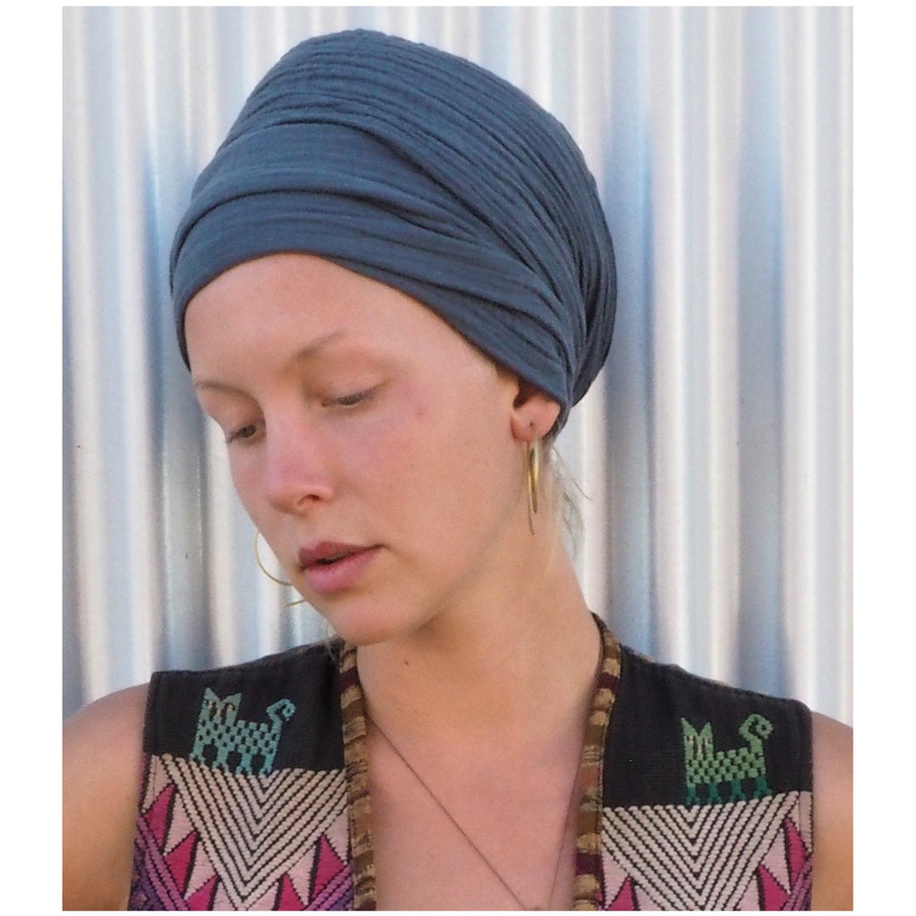Gauze Cotton Turban/Scarf Headcovers- Sage Moon