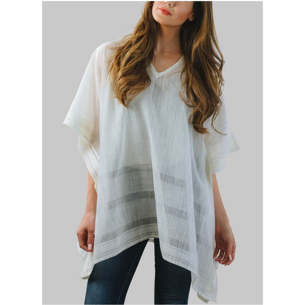 Radiant Moon Poncho Woven Top