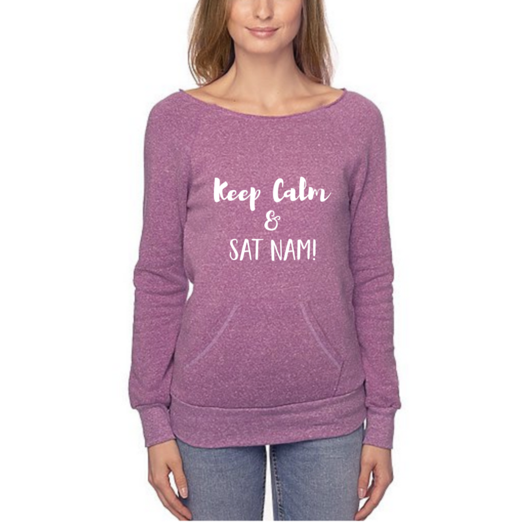 Keep Calm and Sat Nam Eco Blend Fleece - Sage Moon