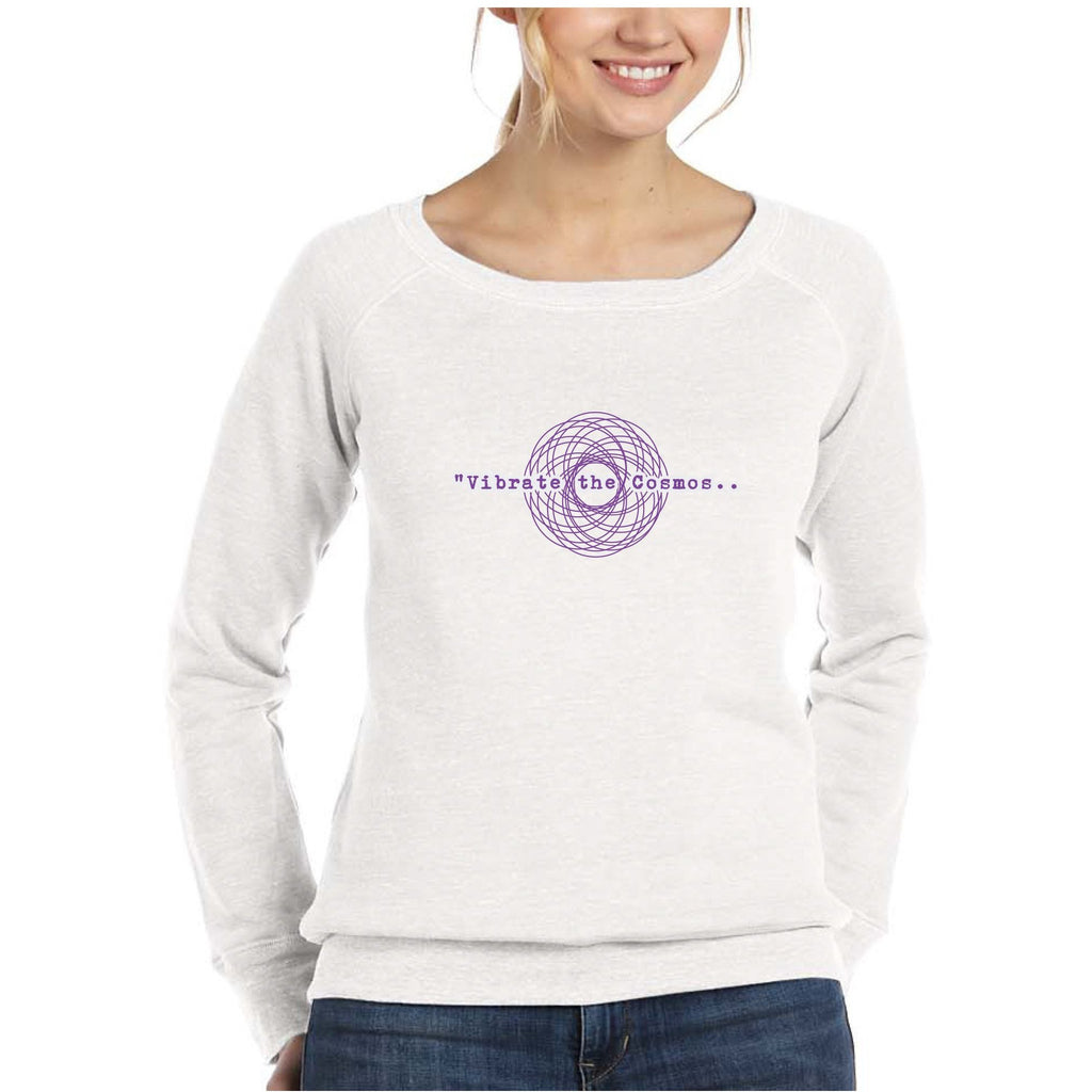 Vibrate the Cosmos Fleece Wideneck Sweatshirt Tops- Sage Moon