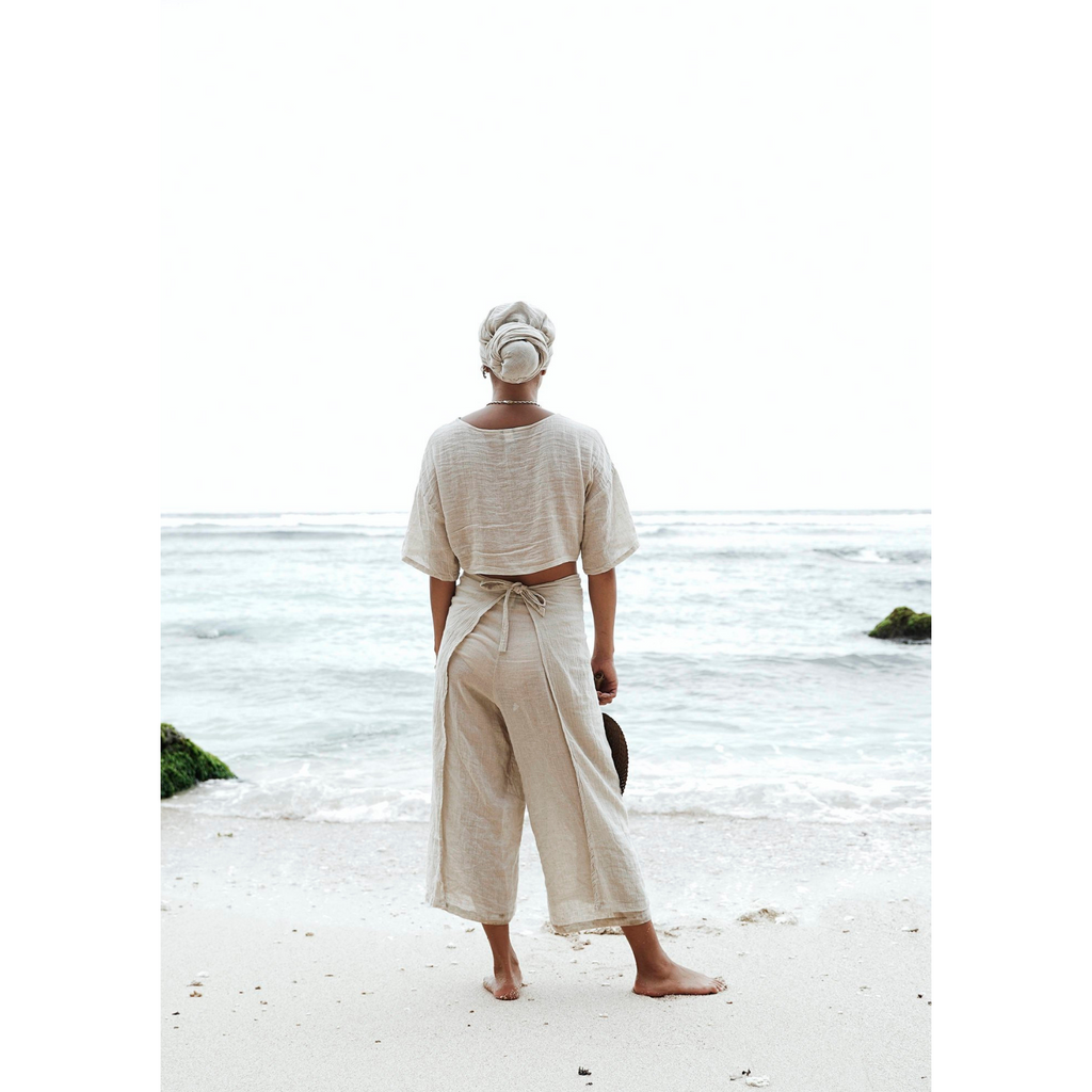Tara Two Piece Linen - Sage Moon