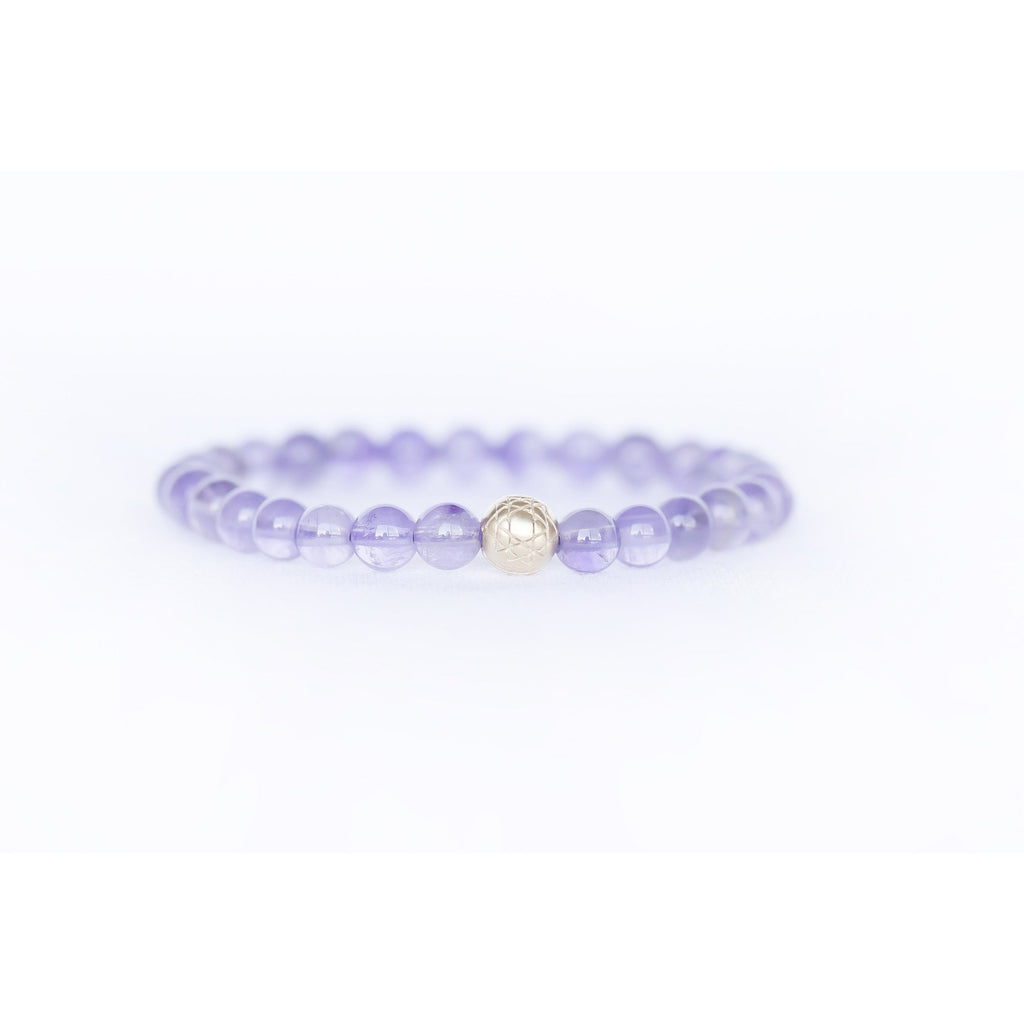 Amethyst Sri Yantra Stretch Bracelet Jewelry- Sage Moon