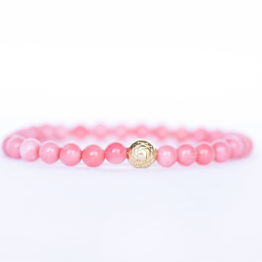 Angel Coral Sri Yantra Stretch Bracelet - Sage Moon