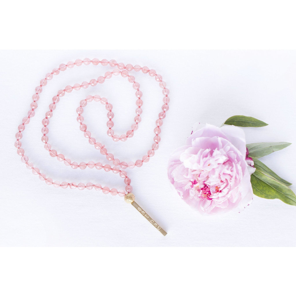 Cherry Quartz Sat Nam Mala Necklace Jewelry- Sage Moon