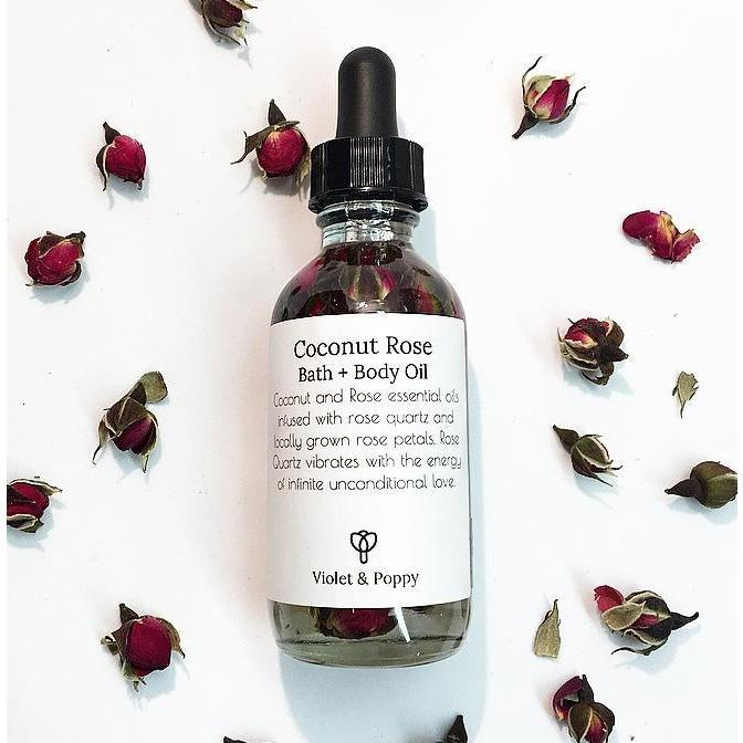 Coconut Rose Bath & Body Oil - Sage Moon