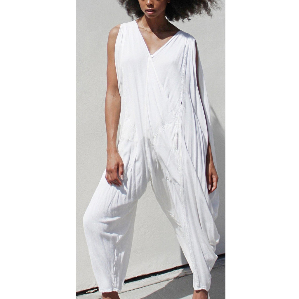 Alaia White Jumper Jumpsuits- Sage Moon