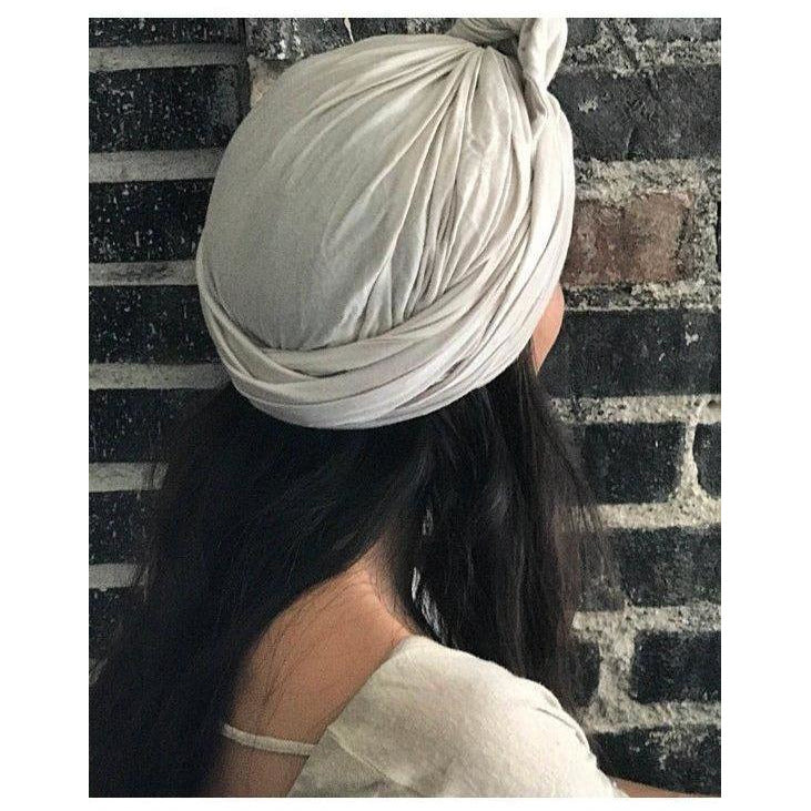 Turban Scarf (Crochet and Solid colors) - Sage Moon