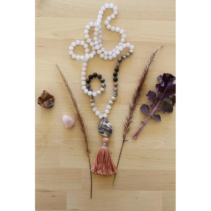 Rose Quartz Comforting Mala - Sage Moon