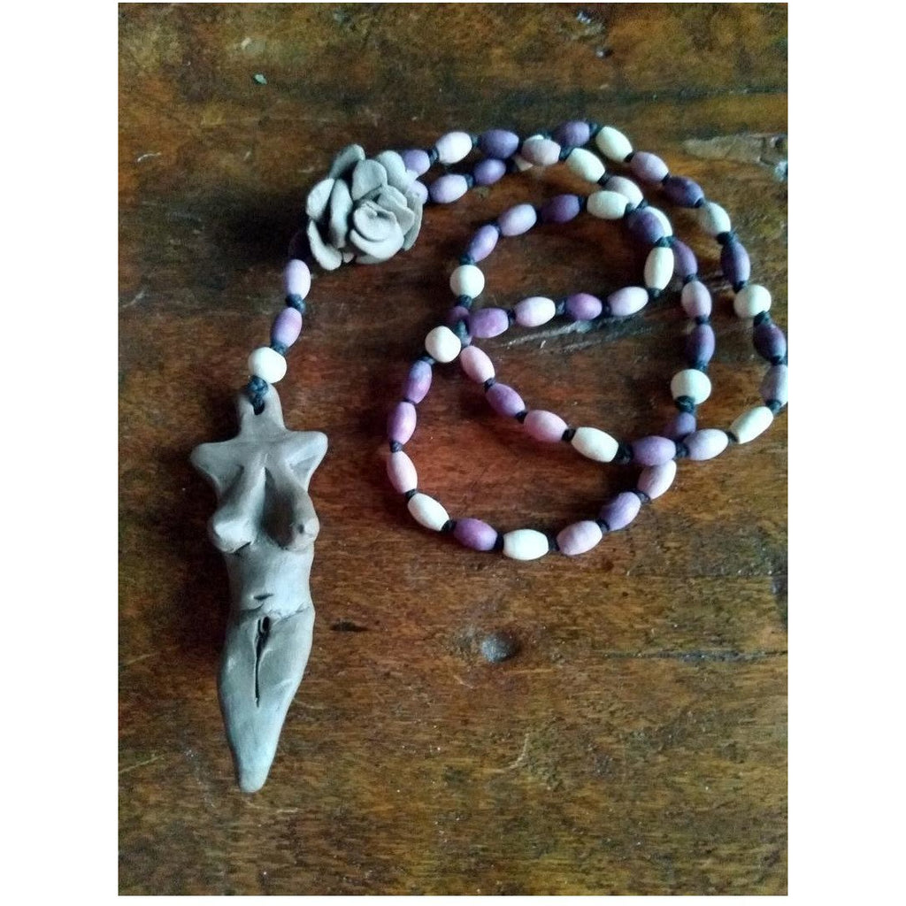 Ash Venus and Rose Rosary - Sage Moon