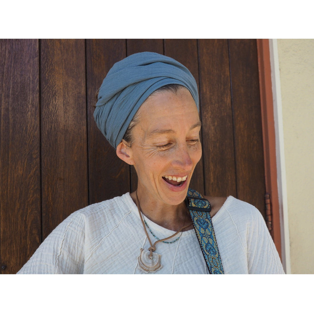 Gauze Cotton Headscarf Headcovers- Sage Moon