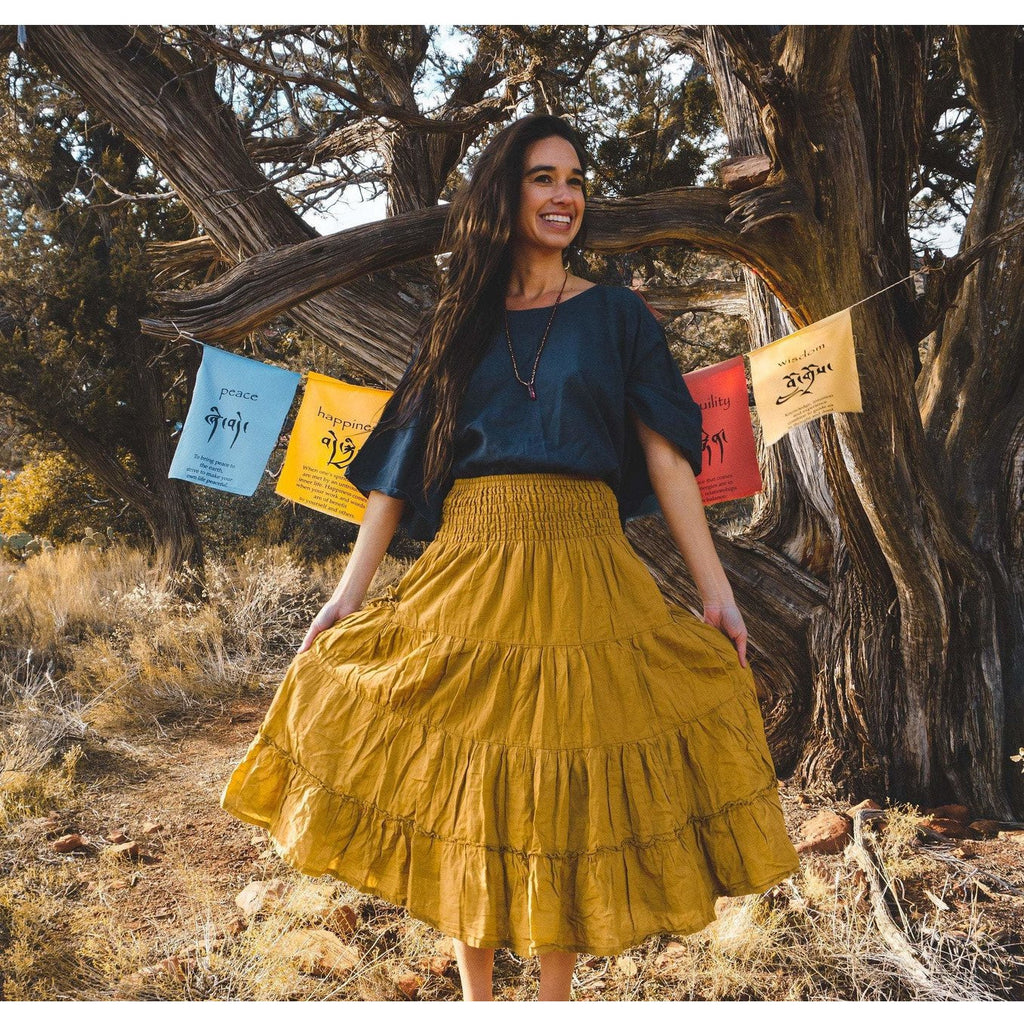 Tiered Maxi Skirt with pockets (available in 14 Colors!) - Sage Moon