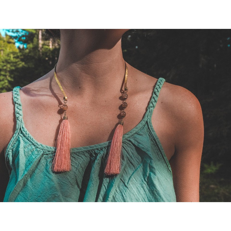Collar Lay Necklace - Sage Moon
