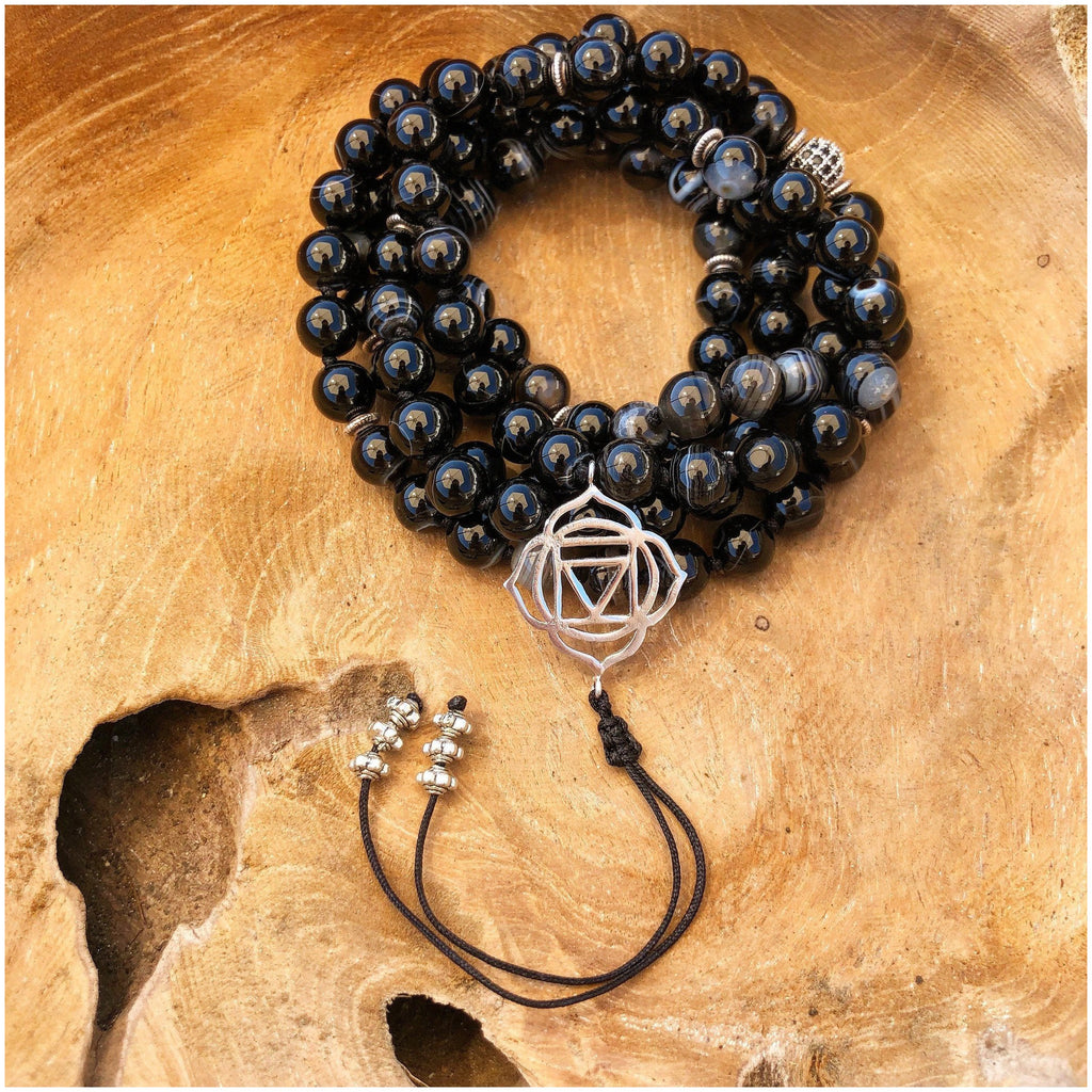 Agate Grounding Mala - Sage Moon