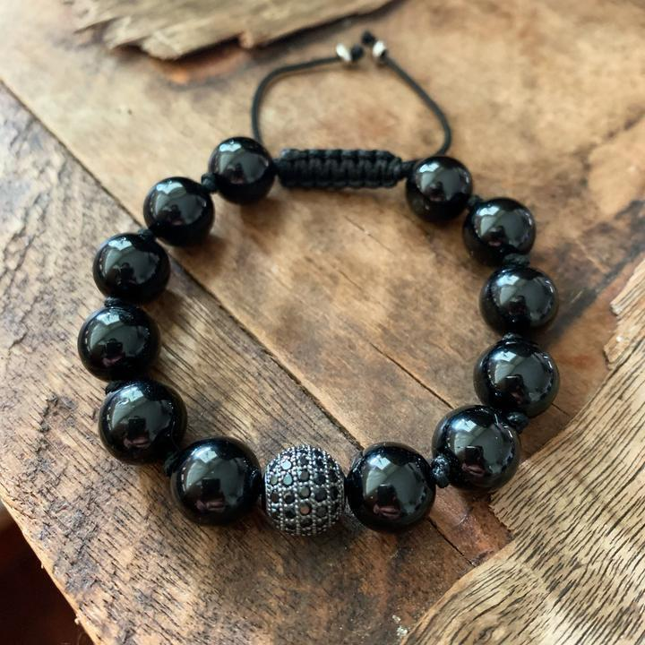 Black Tourmaline Protection Bracelet - Sage Moon