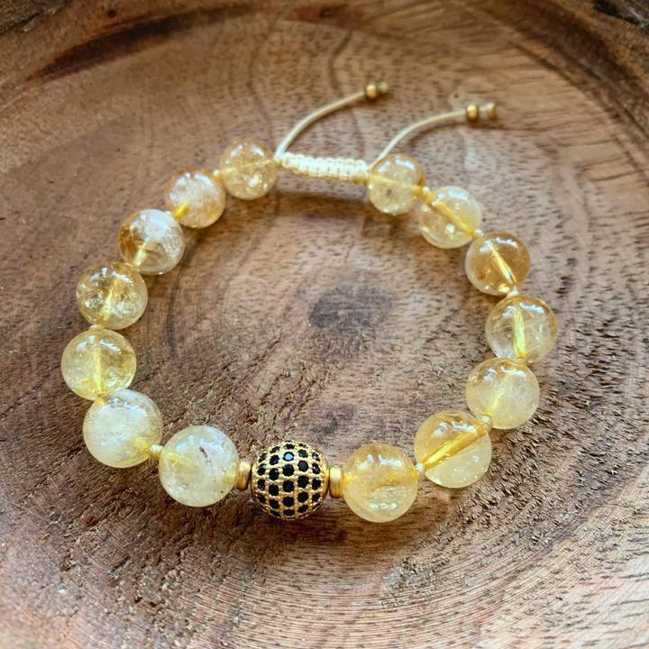 Citrine Adjustable Bracelet - Sage Moon