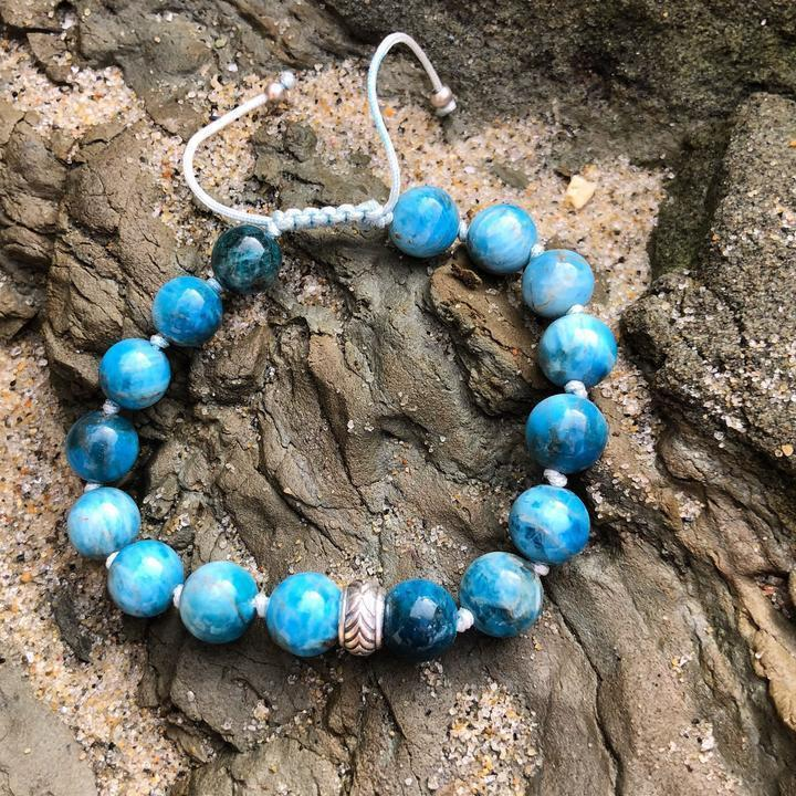 Blue Apatite Adjustable Bracelet - Sage Moon