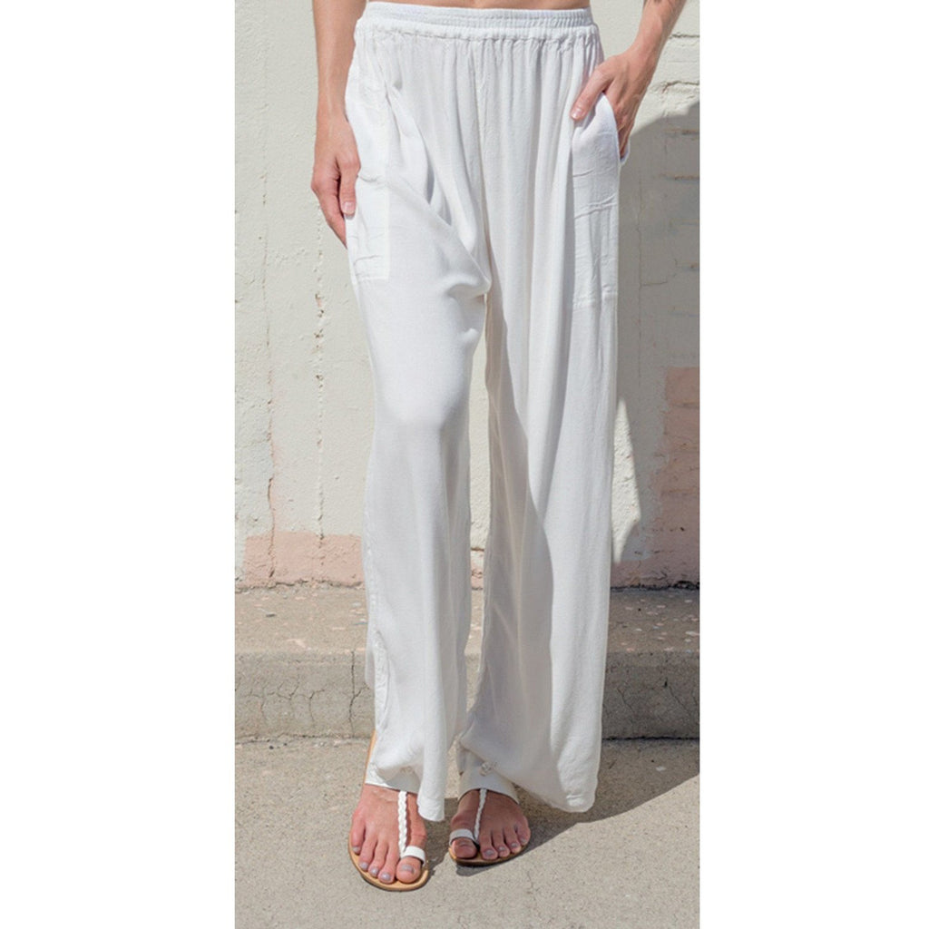 white slouchy wide legs pants from sagemoon