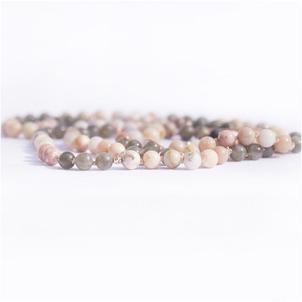 Peace and Flow Adjustable Mala Malas- Sage Moon