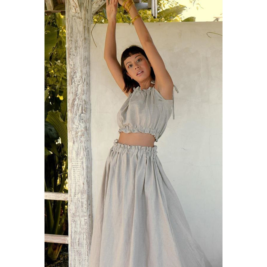 Mona Skirt/Dress (100% Linen) - Sage Moon