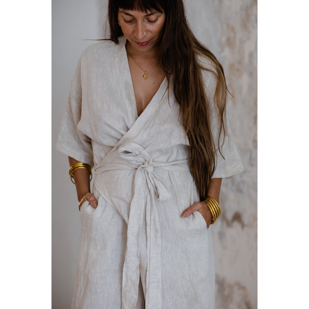 Magdalena Playsuit in Flax - Sage Moon