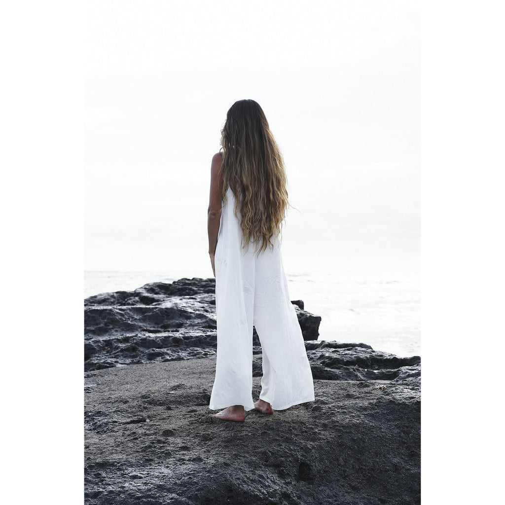 White Kundalini Playsuit - Sage Moon