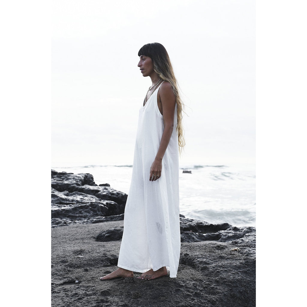 White Kundalini Playsuit