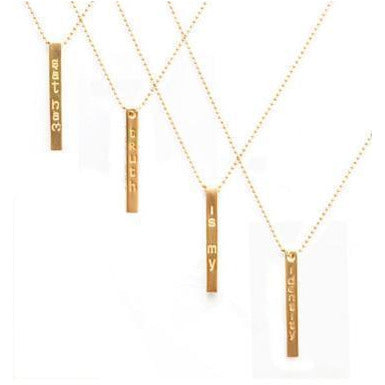 Long Bar Necklaces