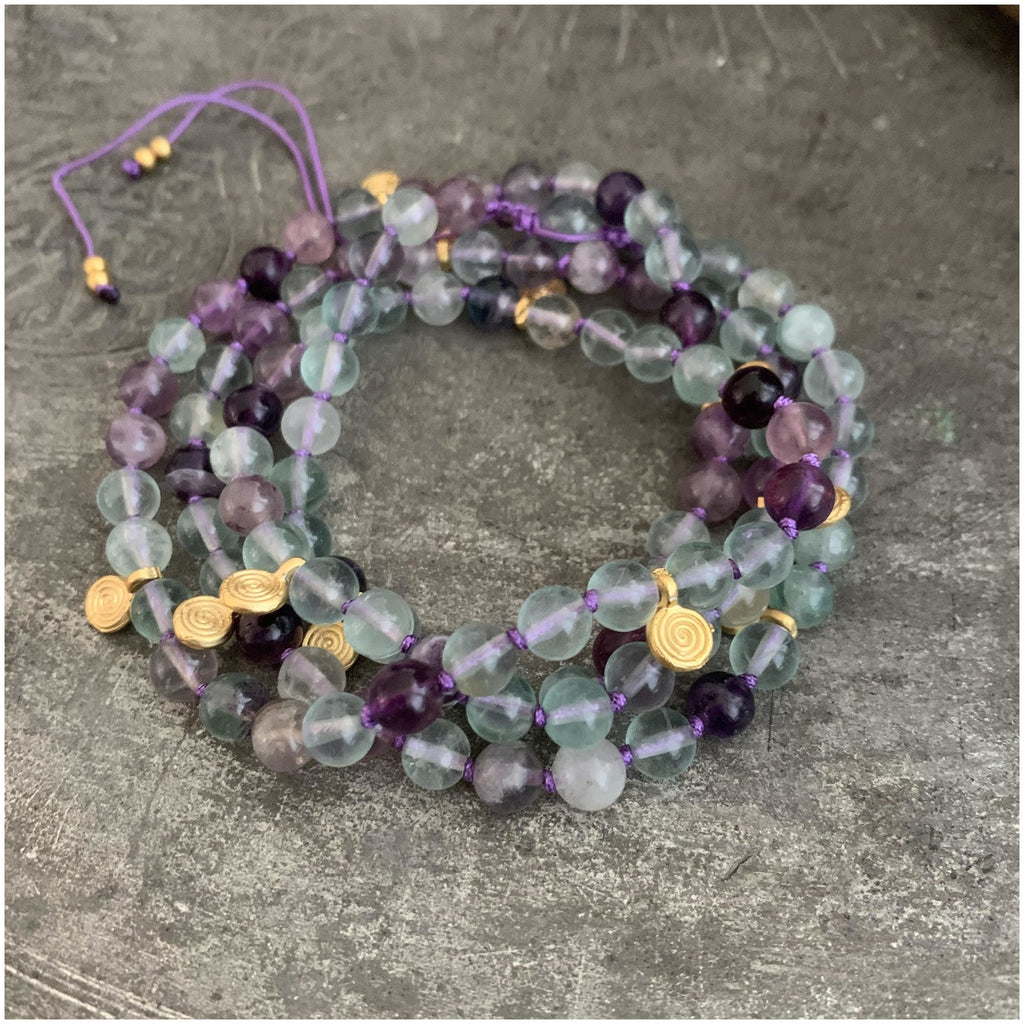 Self Trust Adjustable Mala - Sage Moon