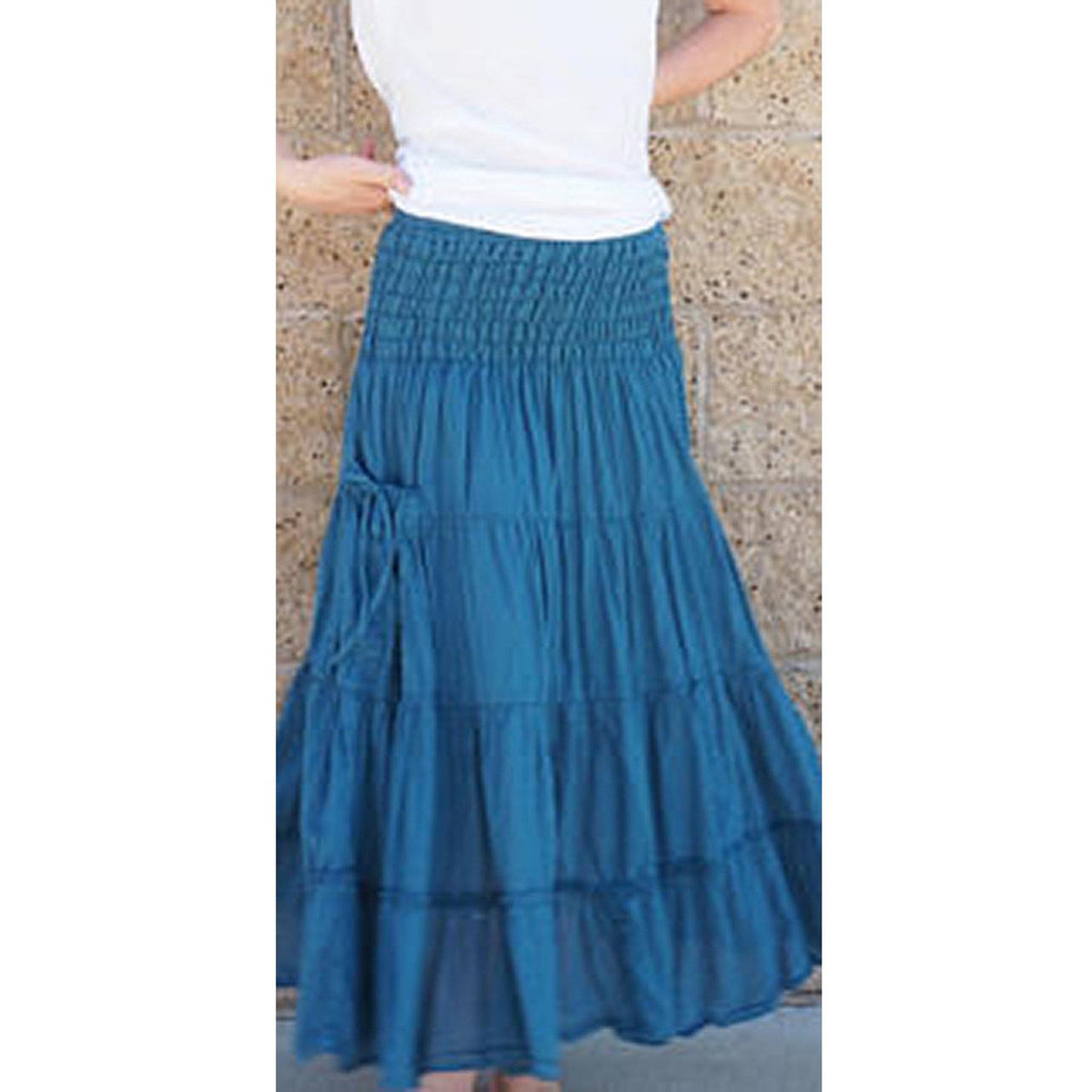 Teal Maxi Skirt with pockets