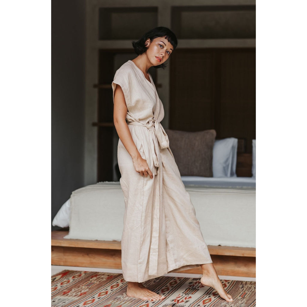 Rey Playsuit 100% linen (Limited Edition) - Sage Moon