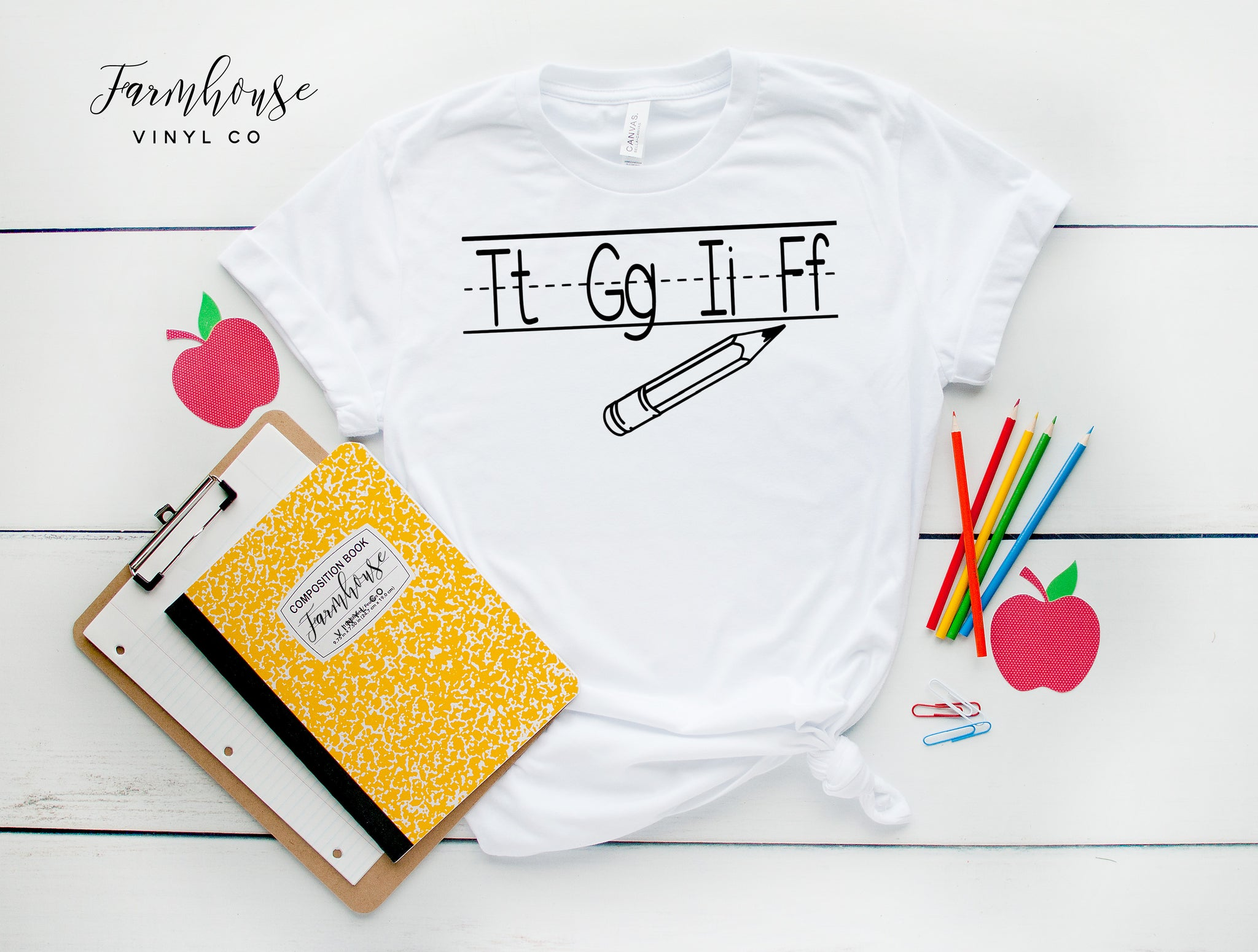 TGIF Teacher Alphabet Bella and Canvas Unisex Shirt