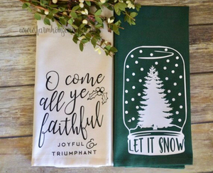 Farmhouse Christmas Tea Towels