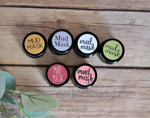 Essential Oil Jar Lid Labels for 5ml jars