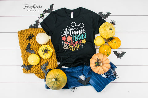 Autumn Leaves and Disney Please Unisex Shirt
