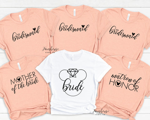 Disney Bridal Party Shirt Collection