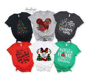 Disney Christmas Unisex Shirt Collection