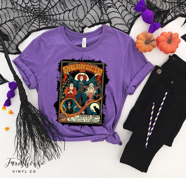 Halloween Hocus Pocus Style Bella Canvas Unisex Short Sleeve Shirts