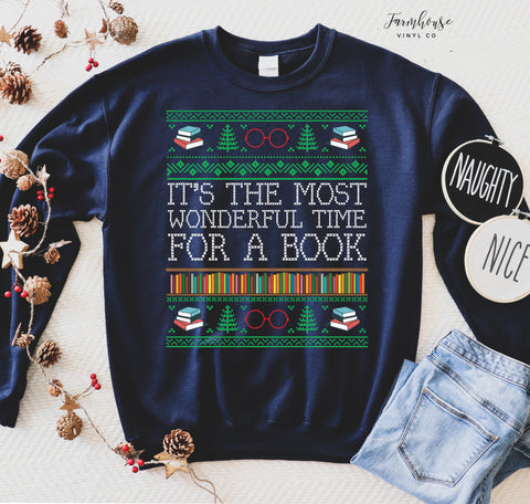 It's The Most Wonderful Time To Read A Book Unisex Ugly Christmas Clothing Collection