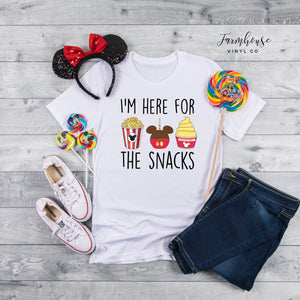 I'm Here for The Snacks Disney Unisex Shirt