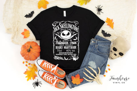 Jack Skellington Halloween Town Nightmare Before Christmas Unisex Short Sleeve Shirts